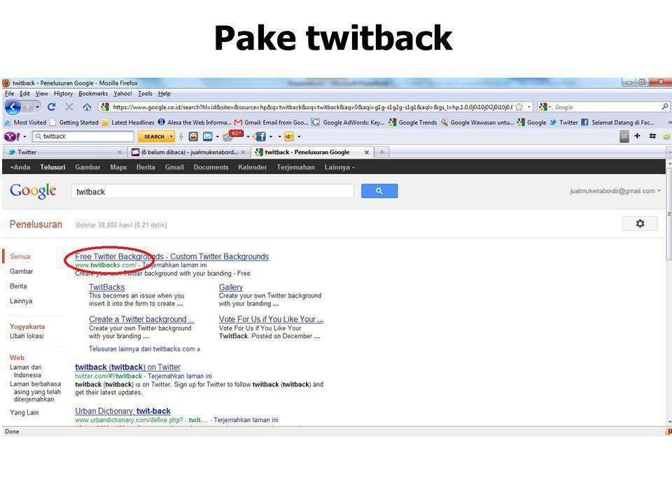 Pake twitback