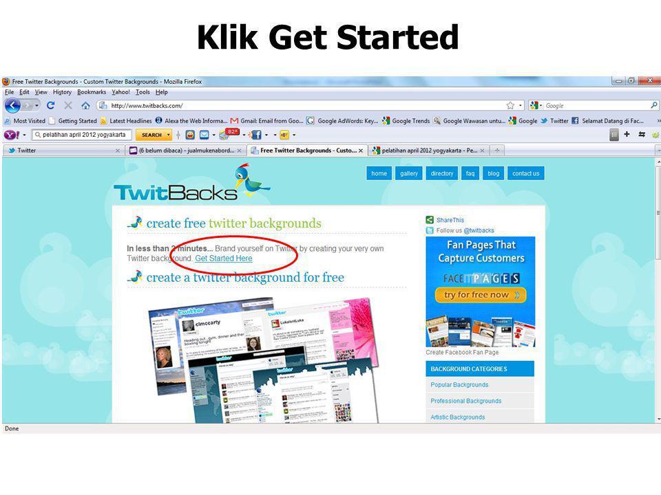 Klik Get Started