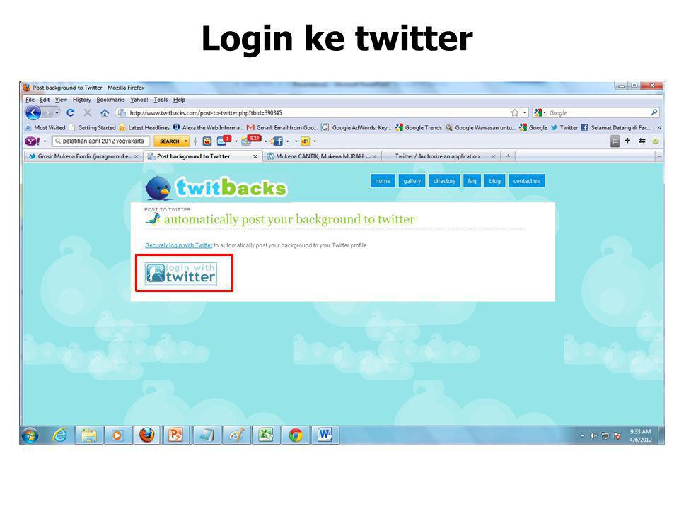 Login ke twitter