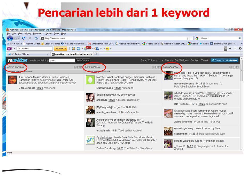 Pencarian lebih dari 1 keyword