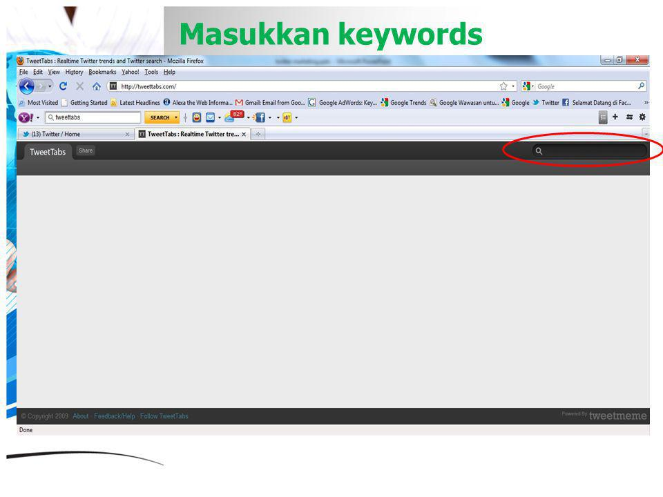 Masukkan keywords