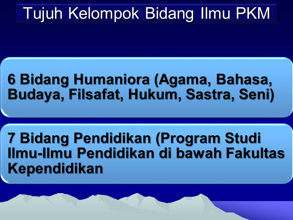 Tujuh Kelompok Bidang Ilmu PKM