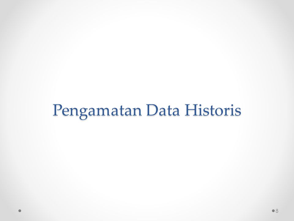 Pengamatan Data Historis