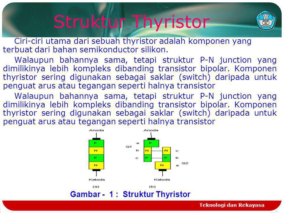 Gambar - 1 : Struktur Thyristor