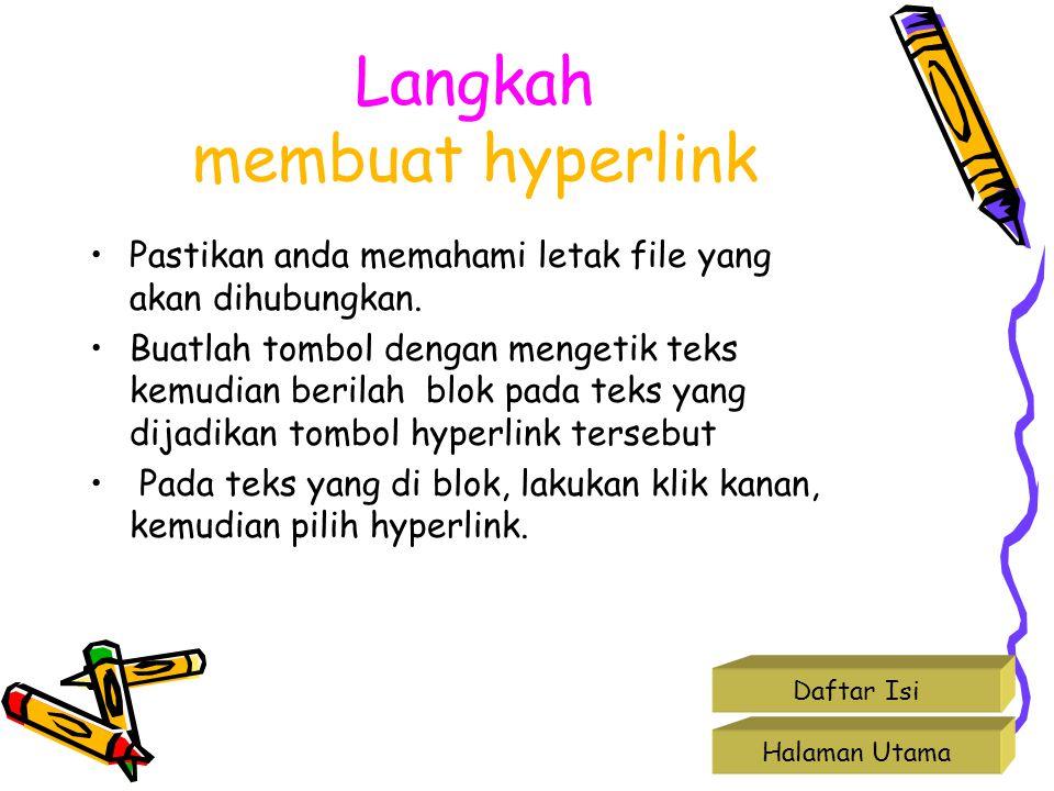 Langkah membuat hyperlink