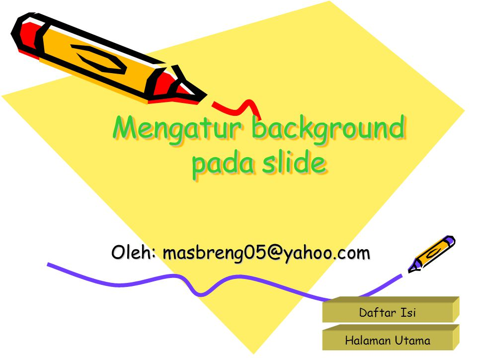 Mengatur background pada slide