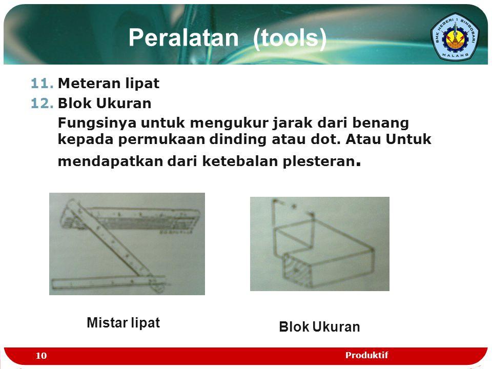 Peralatan (tools) Meteran lipat Blok Ukuran