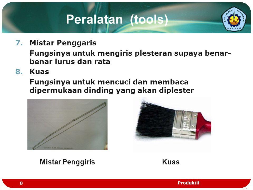 Peralatan (tools) Mistar Penggaris