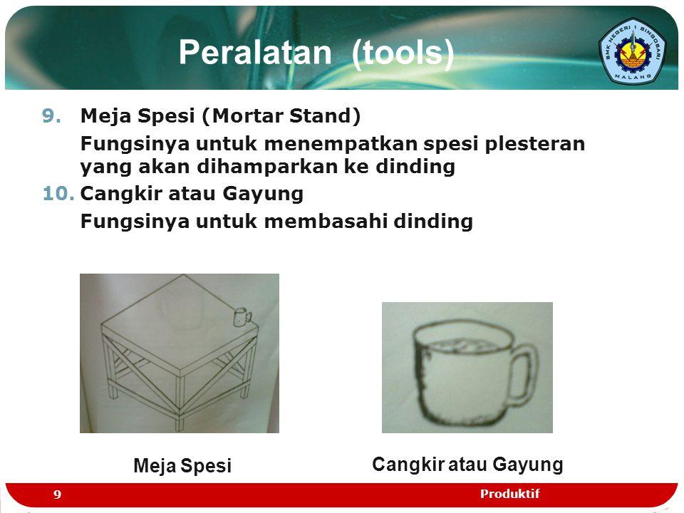 Peralatan (tools) Meja Spesi (Mortar Stand)