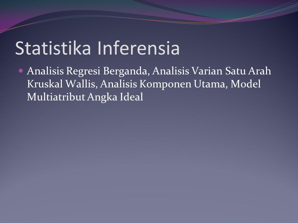 Statistika Inferensia