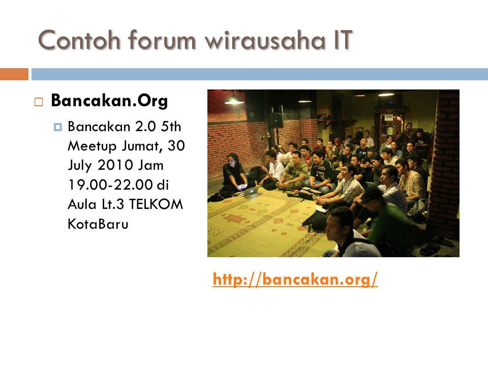 Contoh forum wirausaha IT