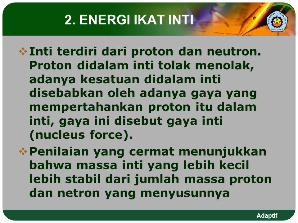 2. ENERGI IKAT INTI