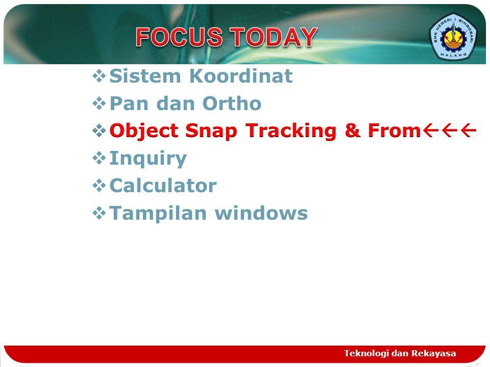 FOCUS TODAY Sistem Koordinat Pan dan Ortho