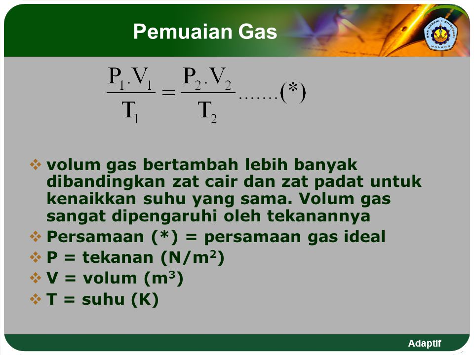 Pemuaian Gas