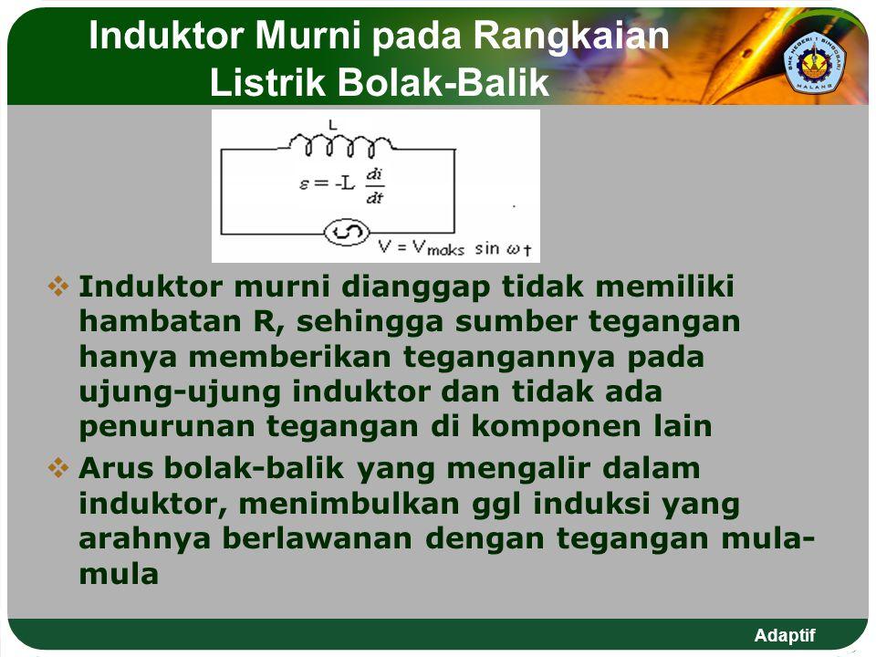 Induktor Murni pada Rangkaian Listrik Bolak-Balik