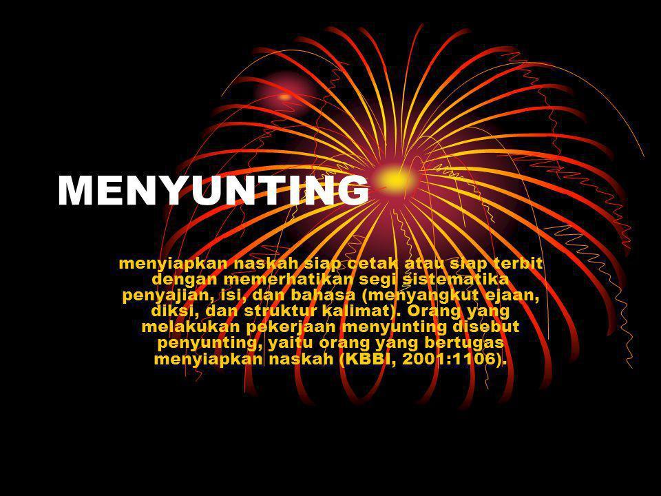 MENYUNTING