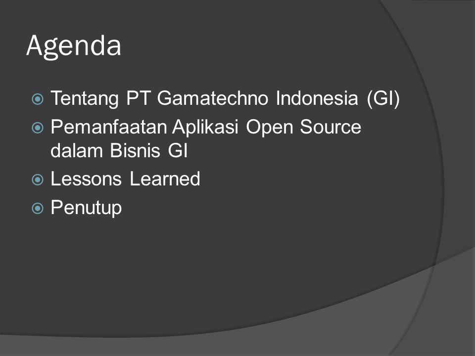 Agenda Tentang PT Gamatechno Indonesia (GI)