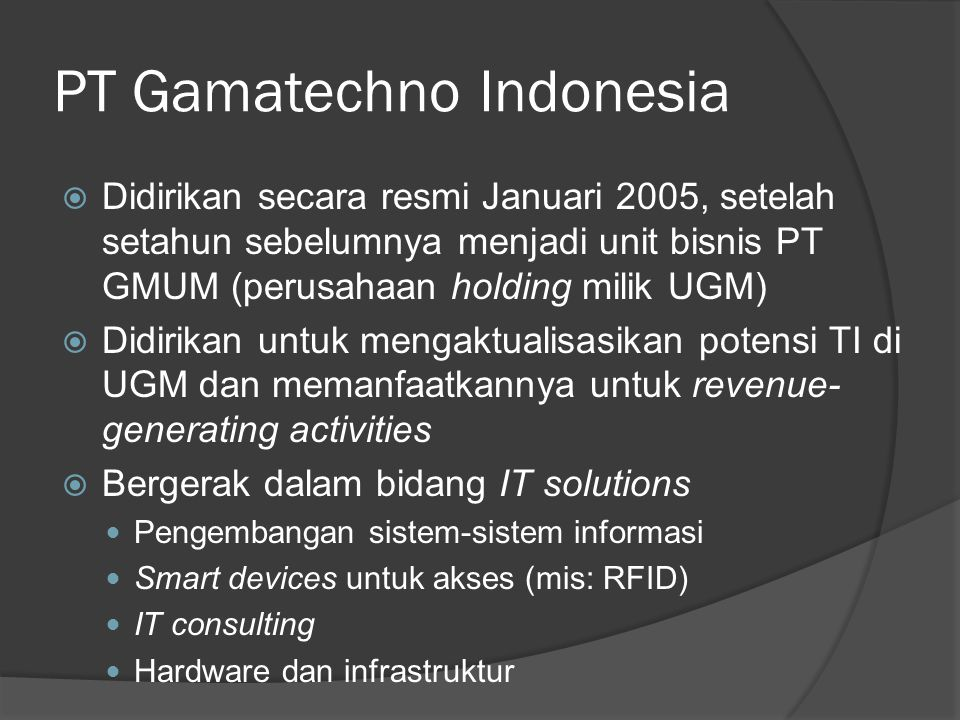 PT Gamatechno Indonesia