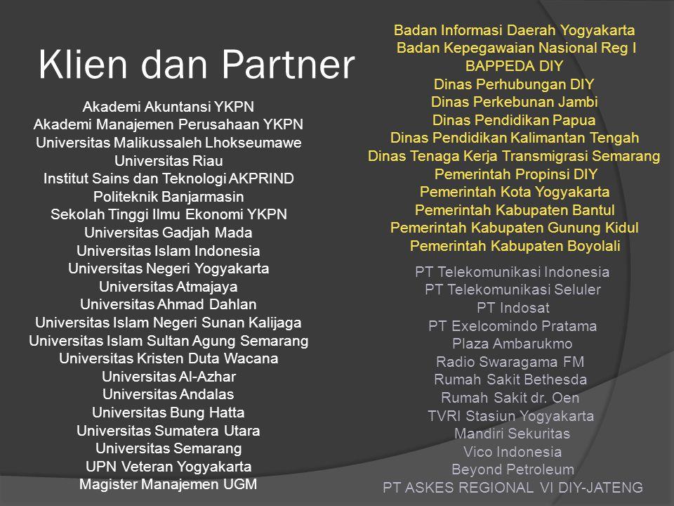 Klien dan Partner Badan Informasi Daerah Yogyakarta