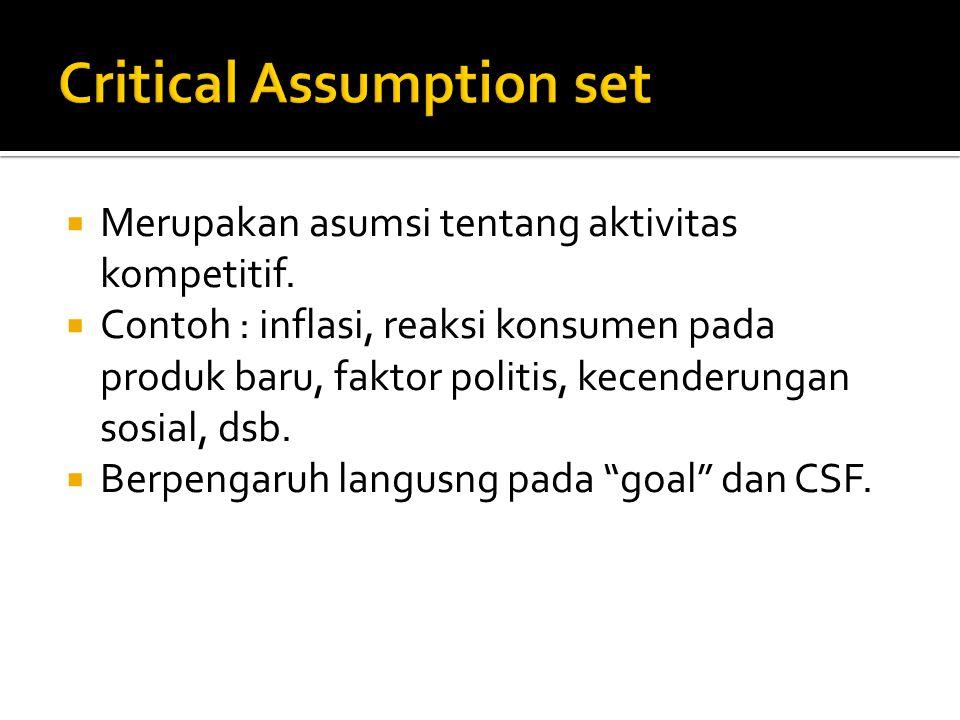 Critical Assumption set