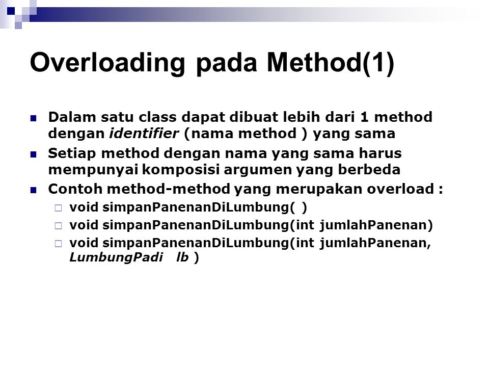 Overloading pada Method(1)