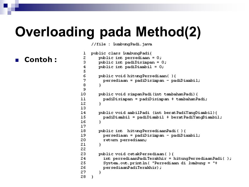 Overloading pada Method(2)