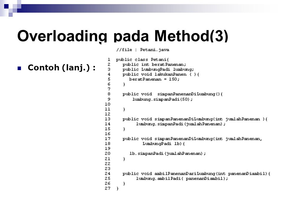 Overloading pada Method(3)