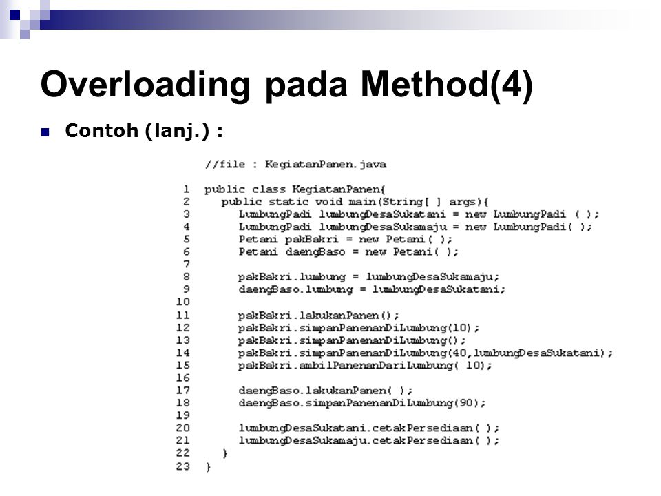 Overloading pada Method(4)