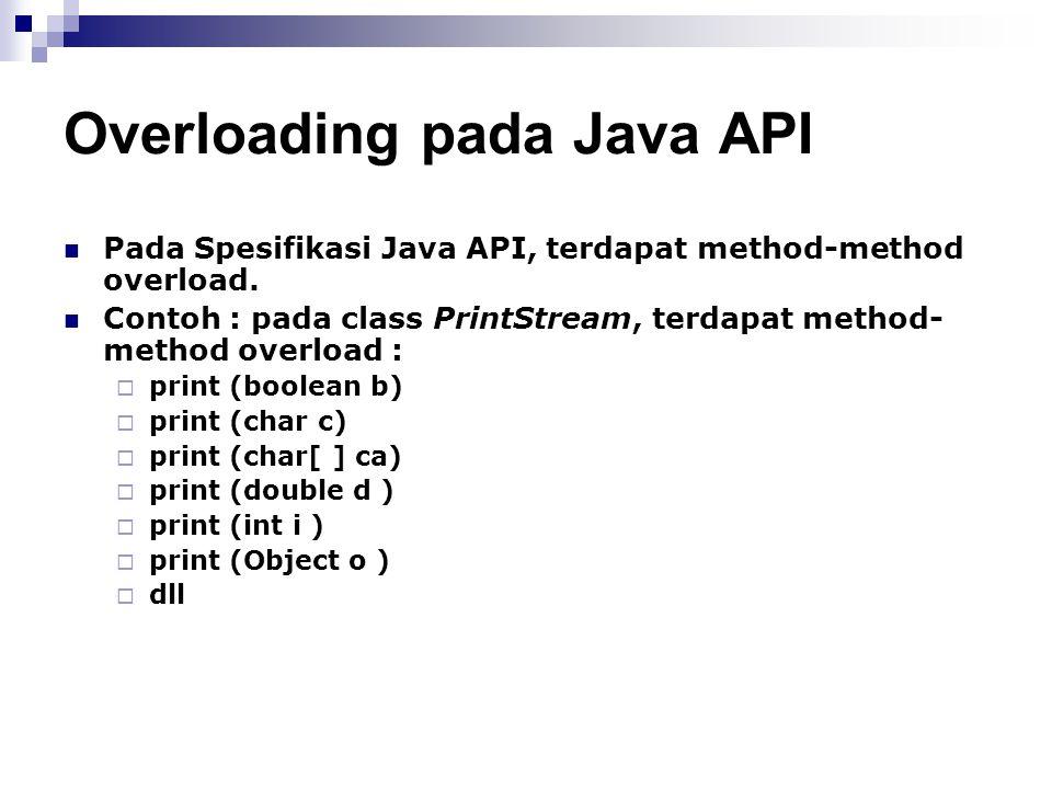 Overloading pada Java API