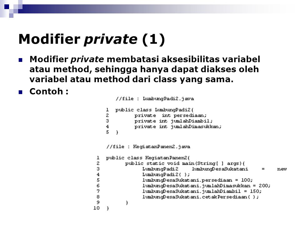 Modifier private (1)