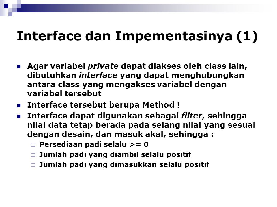 Interface dan Impementasinya (1)
