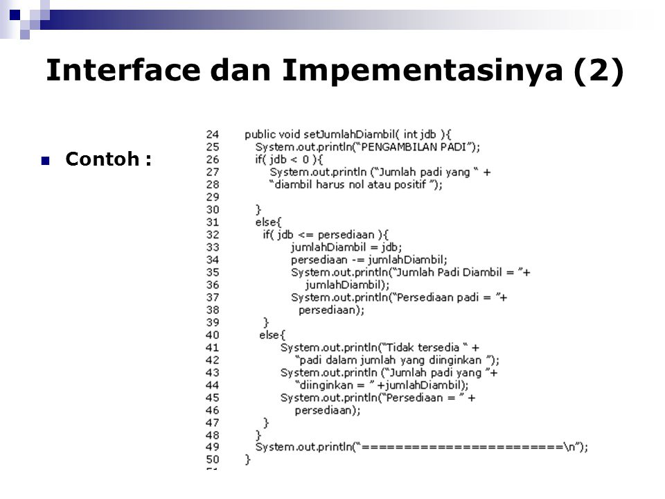 Interface dan Impementasinya (2)
