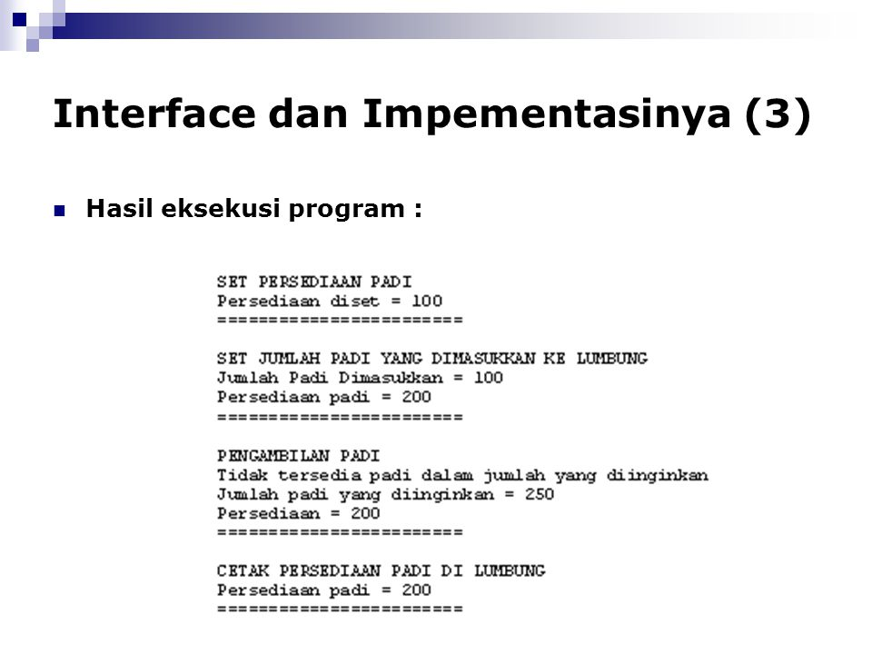 Interface dan Impementasinya (3)