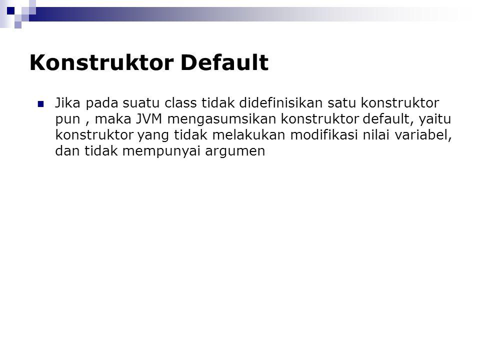 Konstruktor Default