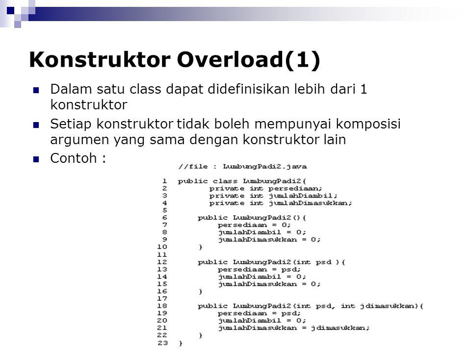 Konstruktor Overload(1)