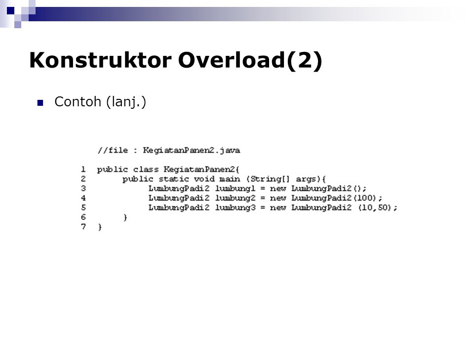 Konstruktor Overload(2)