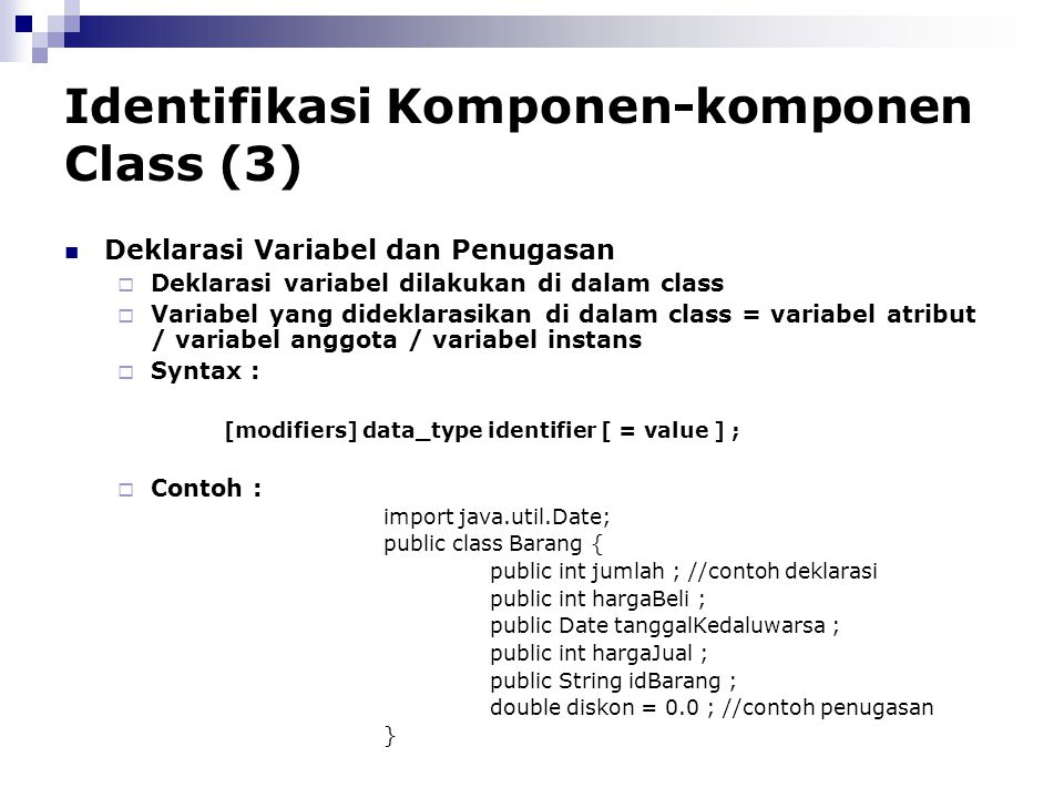 Identifikasi Komponen-komponen Class (3)