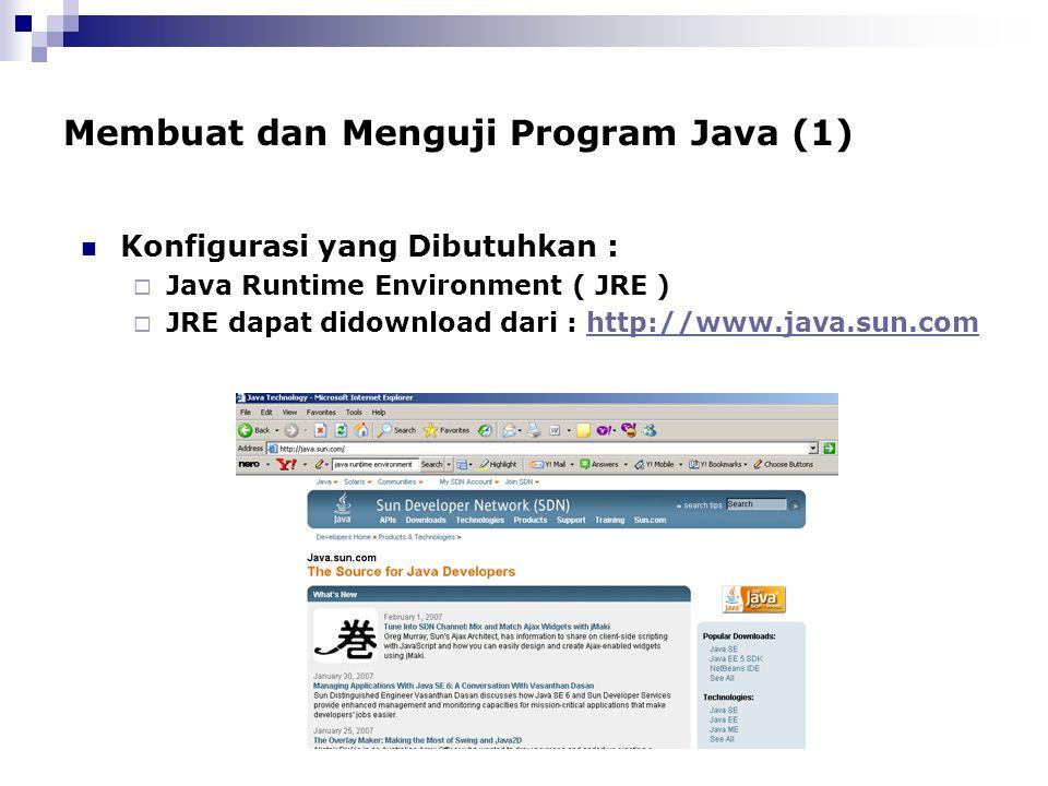 Membuat dan Menguji Program Java (1)