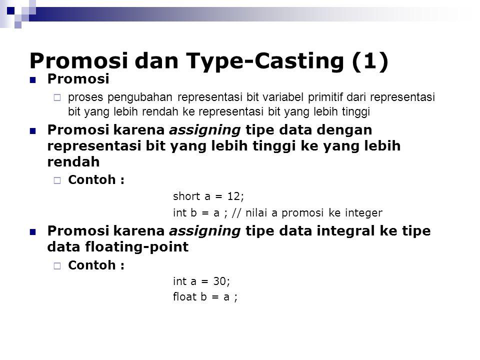 Promosi dan Type-Casting (1)