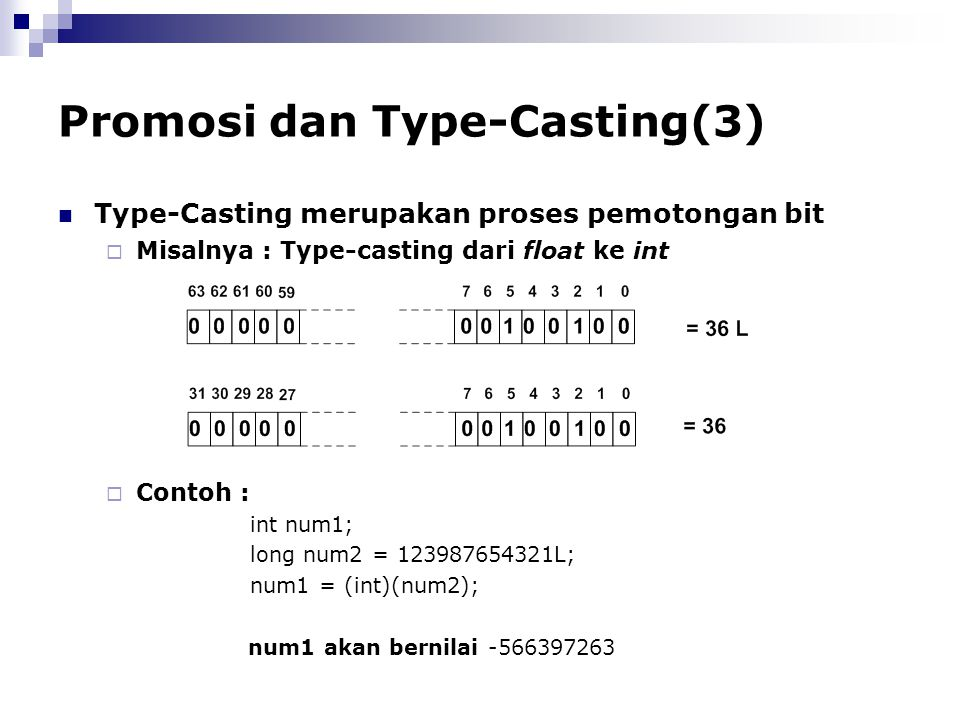 Promosi dan Type-Casting(3)