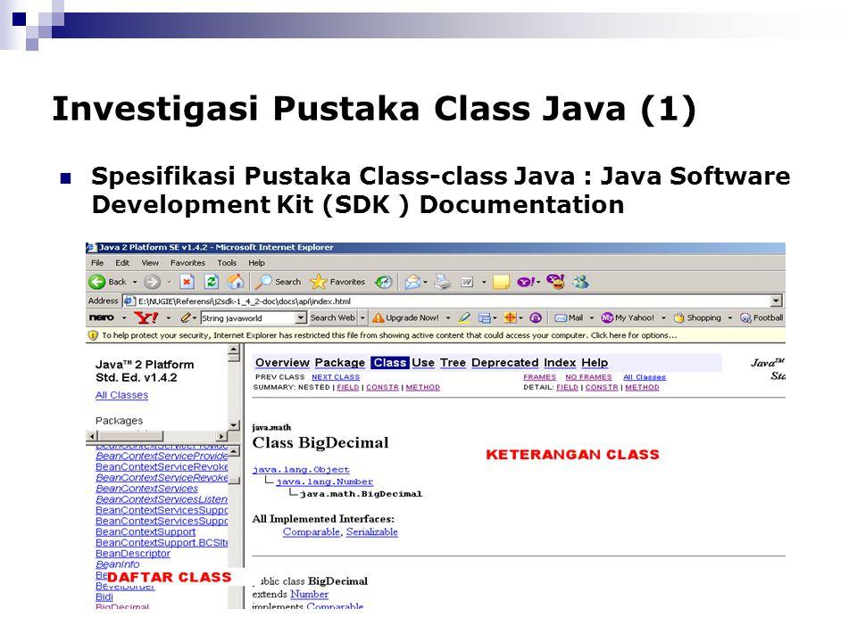 Investigasi Pustaka Class Java (1)