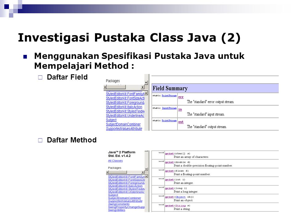 Investigasi Pustaka Class Java (2)