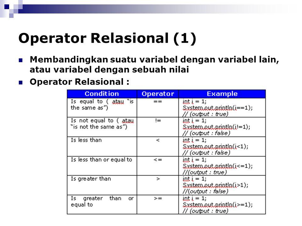 Operator Relasional (1)