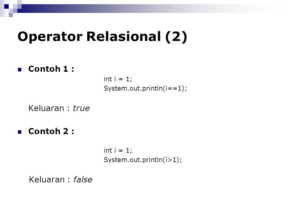 Operator Relasional (2)