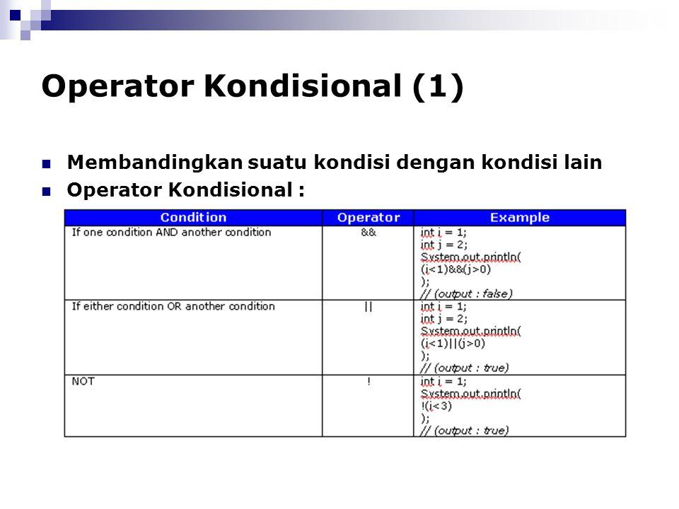 Operator Kondisional (1)
