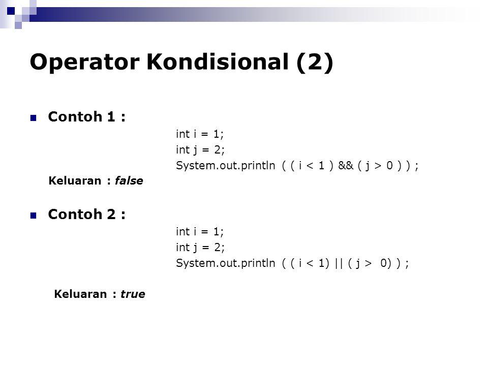 Operator Kondisional (2)