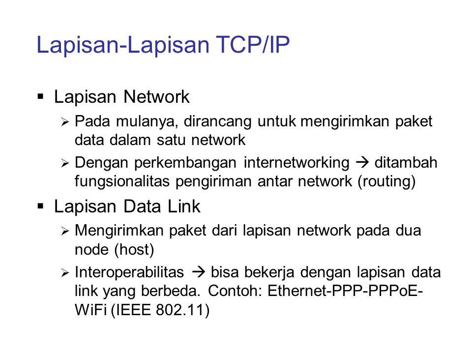 Lapisan-Lapisan TCP/IP