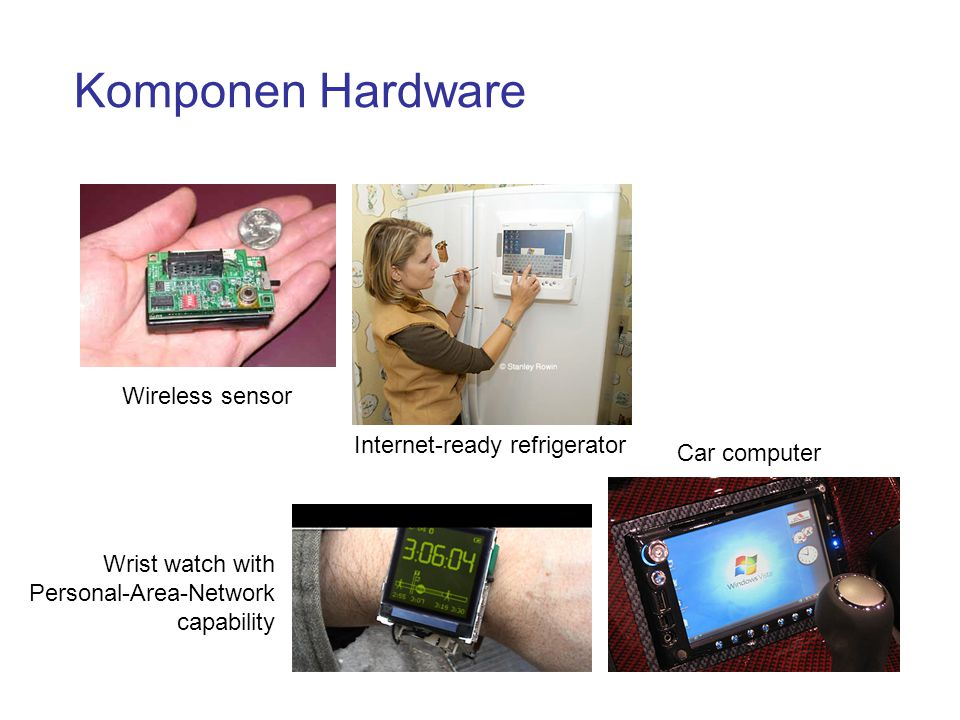Komponen Hardware Wireless sensor Internet-ready refrigerator