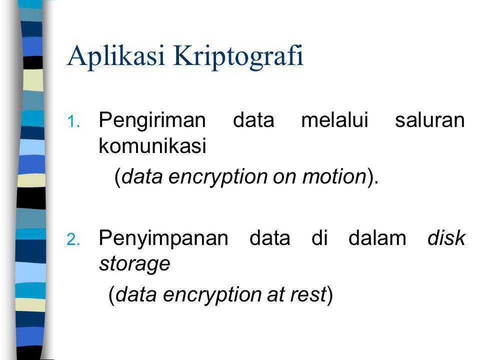 Aplikasi Kriptografi Pengiriman data melalui saluran komunikasi