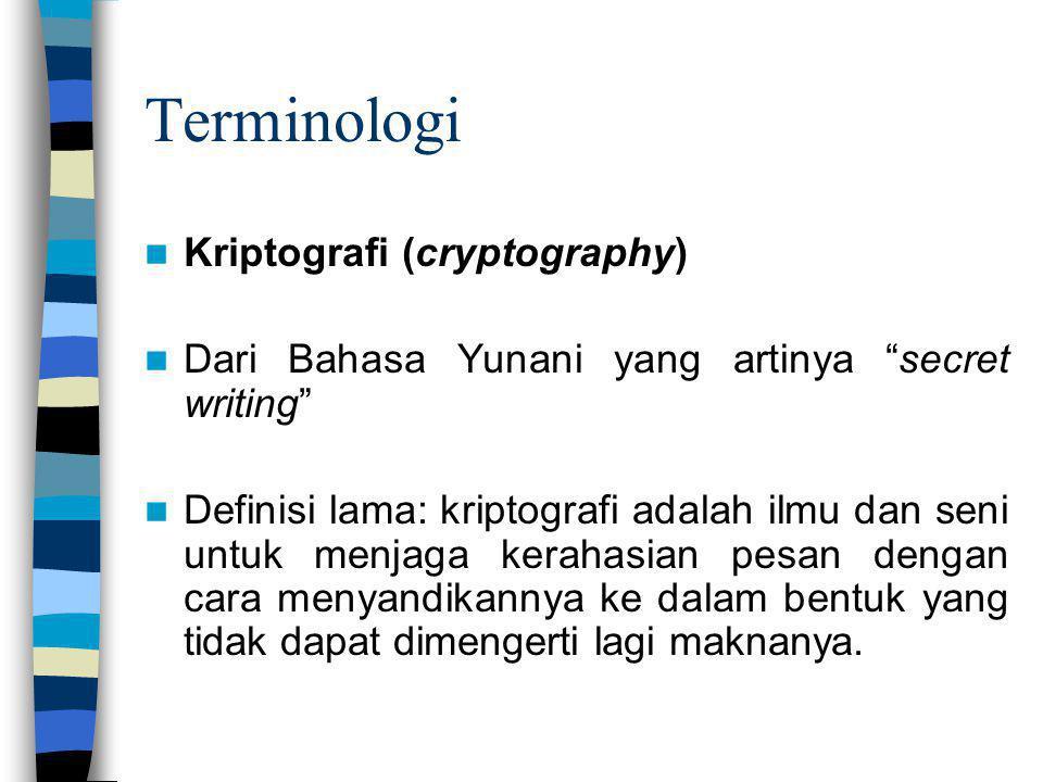 Terminologi Kriptografi (cryptography)